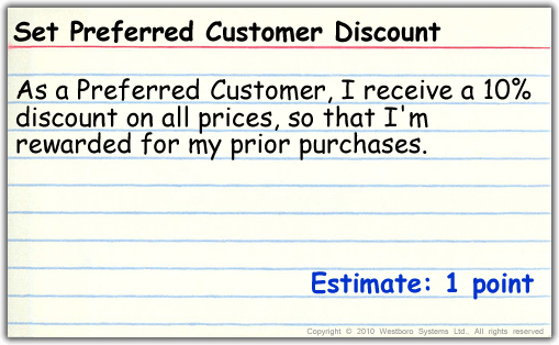 Create preferred customer with discount and estimate